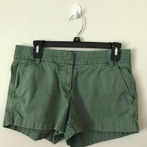 J Crew Chino green shorts